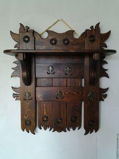 Купить Вешалка в баню - вешалка деревянная, вешалка в баню, мебель в прихожую, вешалка под старину