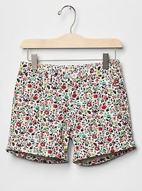 Print midi shorts