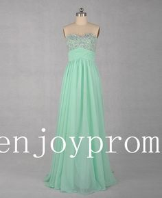 Sweetheart Beading Chiffon floor-Length Bridesmaid/Evening/Prom Dress$105.00