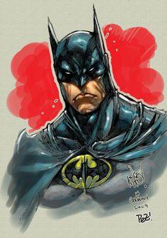 Batman by Joe MAD! (pencils) & Pez (colors)