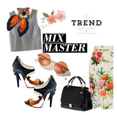 """""""Mix Master Minimal"""" by clotheshawg ❤ liked on Polyvore featuring Oasis, EMMA J SHIPLEY, Miu Miu, Vs2R and patternmixing"""