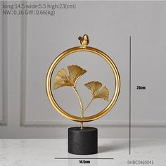 Home Office Nordic Creative Metal Handmade Flower Decor - height 23cm