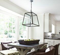 love the lantern alike hanging lamp