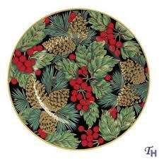 Fitz and Floyd Holiday Pine Salad Plate - C'mon showstopper, right?