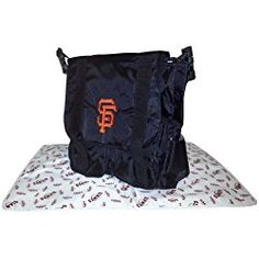 This MLB Sitter Diaper Bag by Concept One holds everything you need for a day out with your little fan. This nylon bag features two front zipper pockets, a