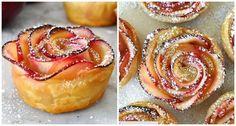 Eine einfache Step By Step Anleitung für dekorative Apfel-Rosen aus Blätterteig.