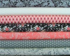 Fat Quarter Bundle of Rock n Romance by SistersandQuilters on Etsy, $19.25