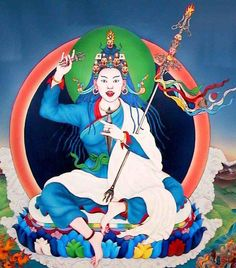 Yeshe Tsogyal is known as Mother of Tibetan Buddhism. She was the consort of Padmasambhava, the Indian tantric teacher who brought Buddhism to Tibet. Buddhist Wisdom, Buddha Buddhism, Tibetan Buddhism, Buddhist Art, Shiva, Tantra Art, Tibet Art, Vajrayana Buddhism, Bodhi Tree