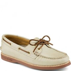 STS93111 Sperry Women's Gold Cup A/O Boat Shoes - Ivory www.bootbay.com