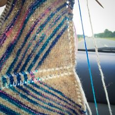 Car knitting and creating a new pattern!