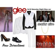 New Directions (Glee) : Stayin' Alive by aure26 on Polyvore featuring polyvore, мода, style, Levi's, rag