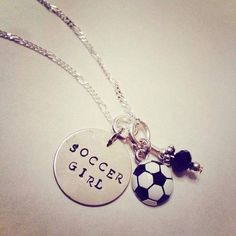 """Sporty Girl """"Soccer Girl"""" Hand Stamped Charm Necklace on Etsy Girls Soccer, Play Soccer, Sporty Girls, Soccer Ball, Soccer Moms, Soccer Sports, Nike Soccer, Sports Mom, Soccer Cleats"""