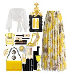 """Happy Yellow "" by pulseofthematter ❤ liked on Polyvore featuring Zimmermann, INC International Concepts, Tory Burch, Sachin + Babi, Versace, Yves Saint Laurent, Dolce&Gabbana, WithChic, Gucci and PopsOfYellow"