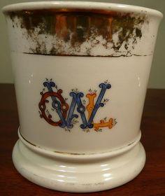 Antique T V France Occupational Shaving Mug Owl | eBay