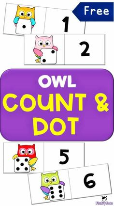 Owl Count and Dot Activity : FREE 6 Counting Owls Owl Crafts Preschool, Preschool Literacy, Free Preschool, Preschool Printables, Kindergarten Activities, Owl Activities, Toddler Activities, Math Work, Fun Math