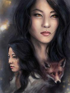 Young kitsune by PolliPo.deviantart.com on @DeviantArt