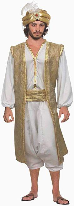 Desert Prince Shirt Vest Men Costume Accessories Sheik Genie Sultan Sinbad Adult