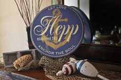 "15"" Round Nautical Themed Decor -  Personalized Last Name Sign  -  Let Love Anchor The Soul. by RumpelstreetBoutique on Etsy https://www.etsy.com/listing/195422521/15-round-nautical-themed-decor"