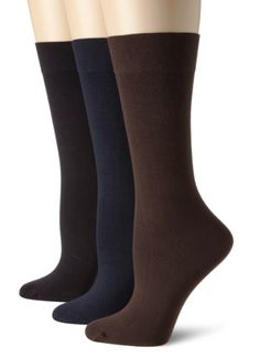 Gold Toe Women's Plus-Size 3 Pair Pack Microfiber Trouser Socks $11.95 (25% OFF)