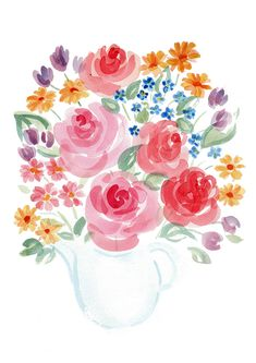 wall art#home decor#instant download#handmade#watercolour painting#bouquet#colorful flowers#living room decor#for mothers#spring#summer#rose Simple Cross Stitch, Wood Tree, Watercolour Painting, Cat Love, Tree Branches, Colorful Flowers, Living Room Decor, Bouquet, Mothers