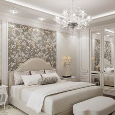 Twin minimalistic backgrounds create space and interest in the bedroom. A thin? Simple Bedroom Design, Beautiful Bedroom Designs, Luxury Bedroom Design, Beautiful Bedrooms, Bed Design, Interior Design Career, Luxurious Bedrooms, Dream Bedroom, Furniture Design