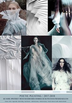 TrendSenses Moodboard Poetic Pleating - Spring Summer 2018 - TrendSenses.com