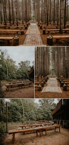 A romantic outdoor boho-chic forest wedding in Wisconsin. This intimate destination DIY wedding is full of all of the woodland wedding dreams. Enchanted Forest Wedding, Woodland Wedding, Boho Wedding, Fall Wedding, Wedding Ceremony, Wedding Venues, Dream Wedding, Wedding Dreams, Rustic Forest Wedding