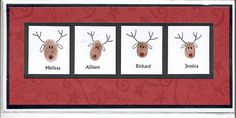 Ack! so cute!!! this could be a cute card or framed - finger prints turned into reindeer!