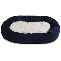 """Majestic Pet Products 52"""" Navy Villa Collection Sherpa Bagel Bed"""