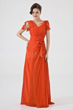 Classic Orange Satin Bridesmaids Gowns - Order Link: http://www.theweddingdresses.com/classic-orange-satin-bridesmaids-gowns-twdn5278.html - Embellishments: Flower; Length: Floor Length; Fabric: Satin; Waist: Natural - Price: 99.313USD
