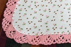 "Need 36"" square fleece with an odd number of holes punched around edge that is a multiple of 3. This is a lacy shell inspired edging."