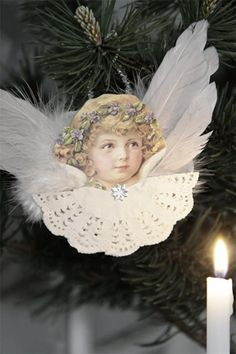 Angel Ornament With Wings Style