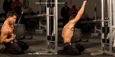 Kneeling-Single-Arm-Lat-Pulldown | http://fitnessbodygain.com/kneeling-single-arm-pulldown/
