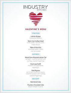 Valentine's Day Menu | Industry Kitchen
