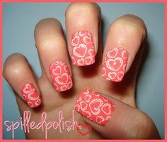 Valentine's Day nails by spilledpolish