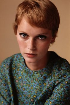 30 Beautiful Portraits of Mia Farrow with Pixie Haircut in the 1960s