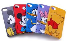 Disney Character 3D Relief iPhone 4 Case. I love these, I'm getting me one when I go to Disney Land/Disney World.