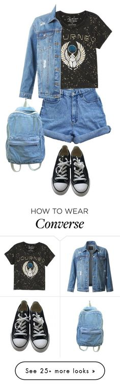 """Denim Outfit"" by o-p-backe on Polyvore featuring Lucky Brand, LE3NO and Converse #grungeoutfits"