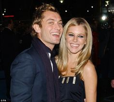 Old flame: Jude Law steps out with Sienna Miller in 2004 before their split