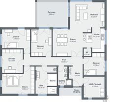 Architecture Ideas WeberHaus Modern angle bungalow combines energy efficiency with living comfort House Layouts, Pent House, Energy Efficiency, Apartment Design, Contemporary Architecture, Interior Design Living Room, House Plans, Sweet Home, Floor Plans