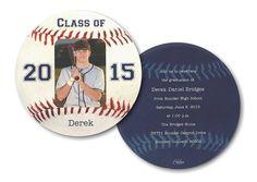 Baseball Star Graduation Announcement