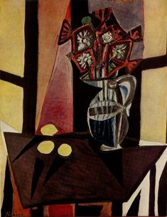 Pablo Picasso - 1941 Nature morte 2 | Monica Rossi | Flickr Pablo Picasso Drawings, Picasso Art, Picasso Paintings, Oil Paintings, Artist Painting, Painting & Drawing, Mougins France, Picasso Still Life, Web Gallery Of Art