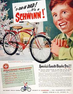 vintage schwinn ad. Loved my Schwinn bicycles!!