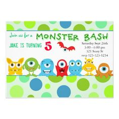 Printable Monster Birthday Invite