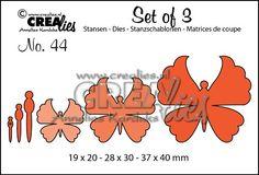 Set of 3 no. 44 Vlinders 6 / Butterflies 6