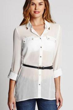 Jayney Chiffon Top Women's Tops & Shirts | G by GUESS