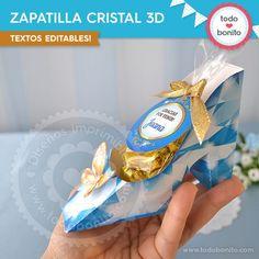 Cenicienta: zapatilla de cristal 3D
