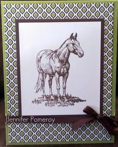 Horse Frontier Masculine Card by Krafty Kitty - Cards and Paper Crafts at Splitcoaststampers