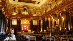 The sumptuous Drapers' Hall. The grand old wedding venue is in the City of London.