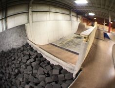 Skater Edge Indoor Skate Park | Taunton | MA - Skatepark.com Skate Ramp, Roller Rink, Garage Loft, Board Shop, Build Your Own House, Sports Complex, Playgrounds, Big Houses, Children's Place